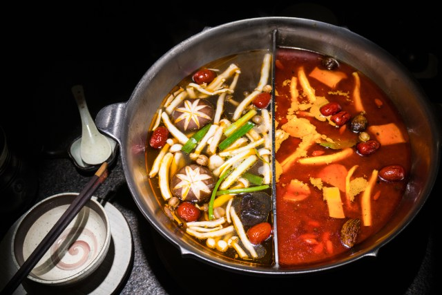 The relatives shared a hot pot similar to this