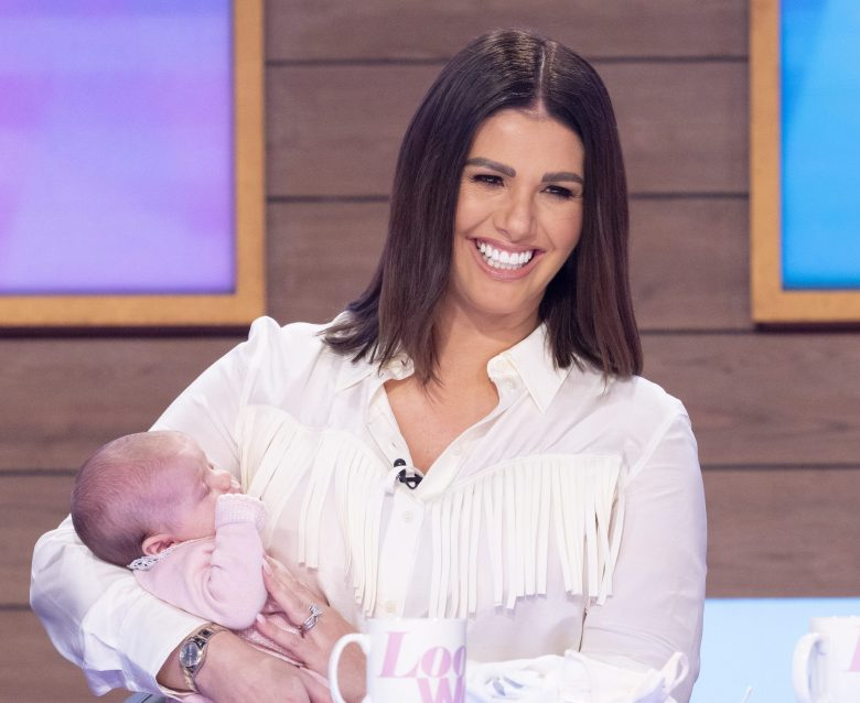 Rebekah appeared on the show with six-week-old daughter Olivia
