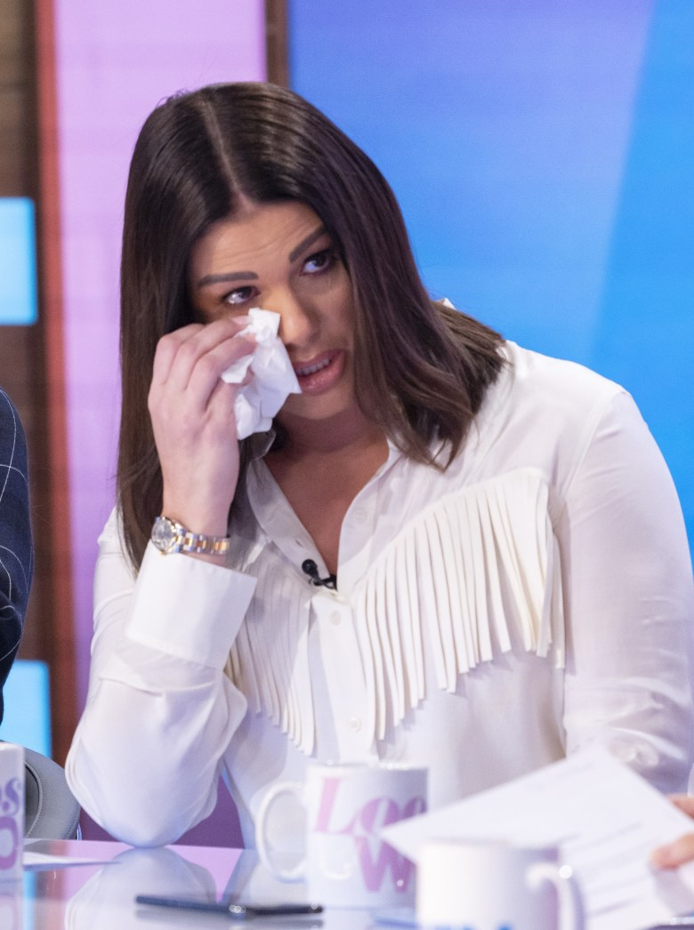 She broke down in tears while discussing her spat with Coleen on Loose Women