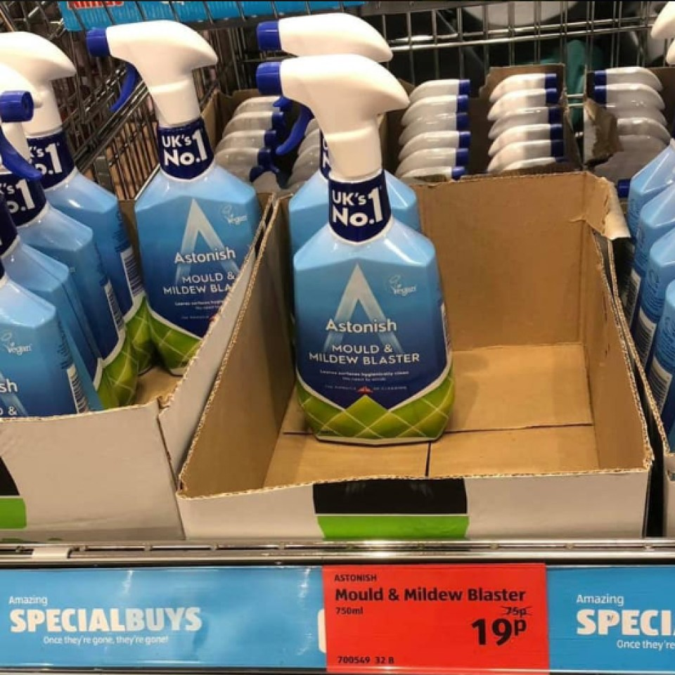 Aldi is selling Mrs Hinch's favourite mould spray for just 19p and cleaning fanatics can't get enough of it