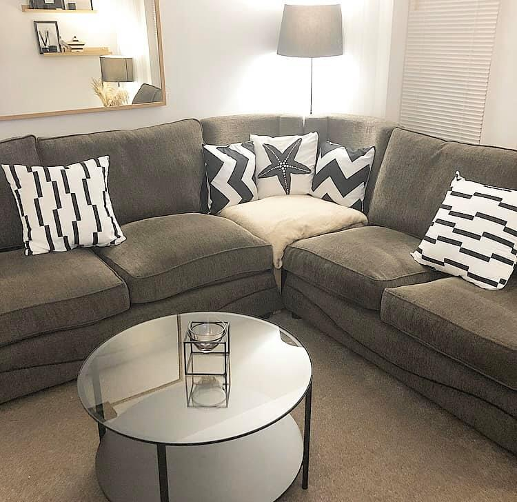 Woman Shows Off Homemade Corner Sofa She Made For Next To Nothing Using Her Old Couches