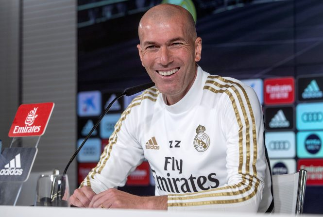 Real Madrid chief Zinedine Zidane played his cards close to his chest over Raheem Sterling