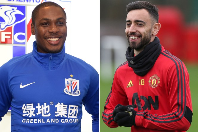 Bruno Fernandes penned a £100,000-a-week deal at Manchester United while Odion Ighalo will get £100,000 of his £300,000 per week from the Red Devils