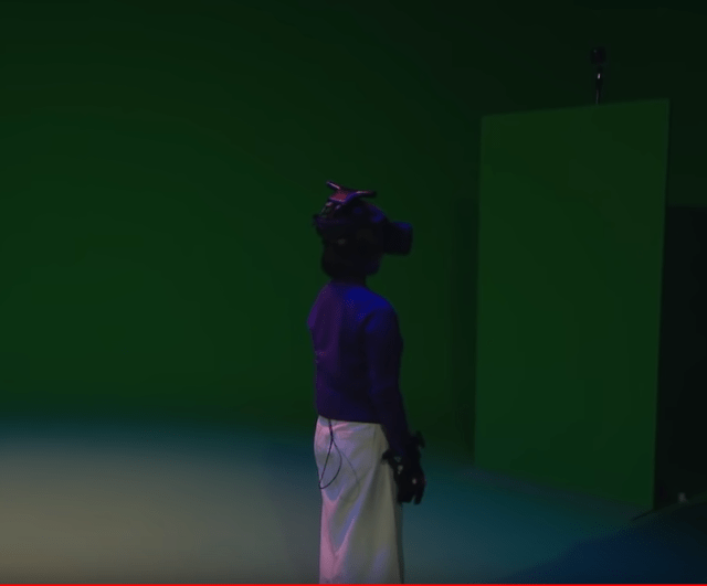 The green screen room also turned dark