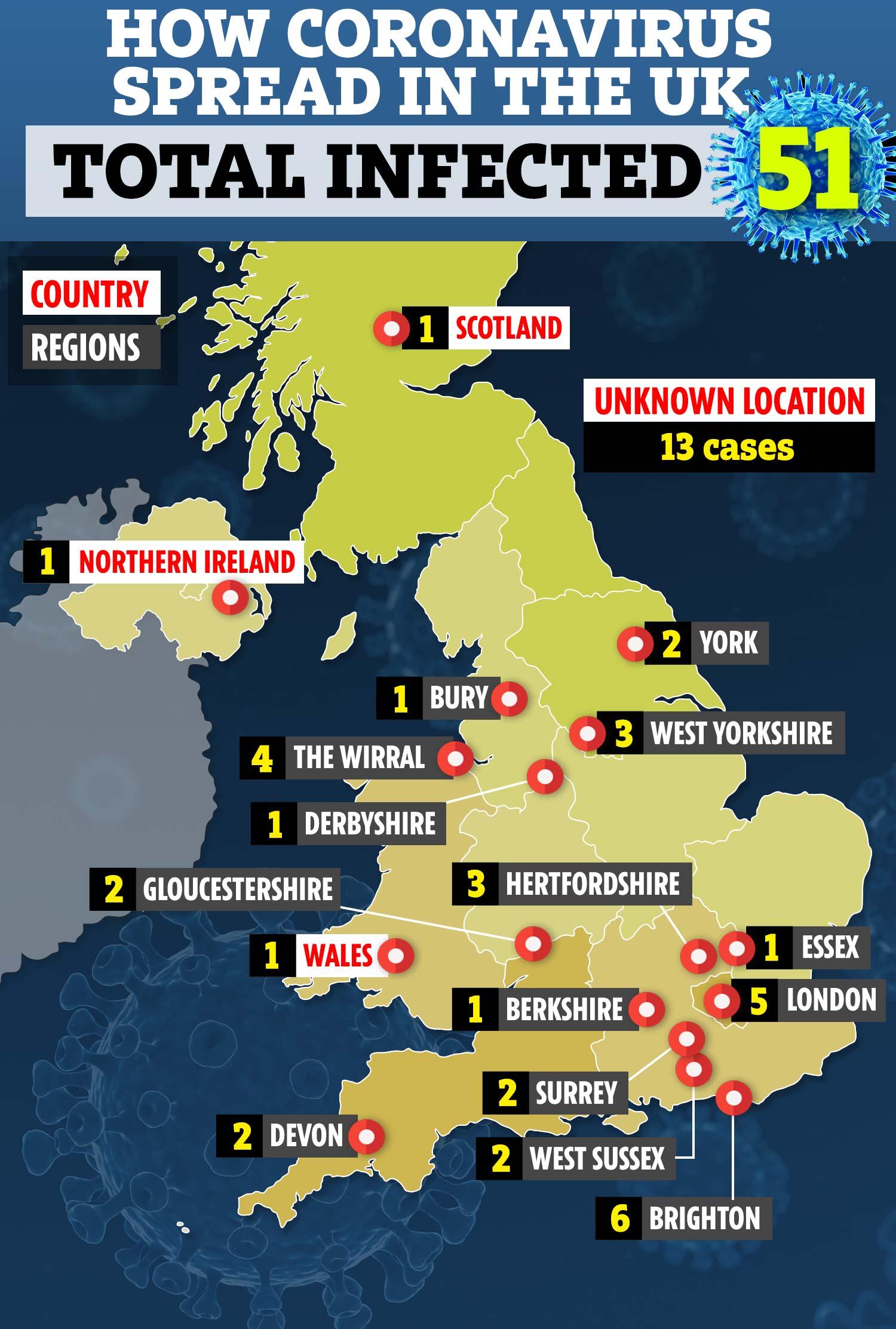 Corona Virus Map Uk Live