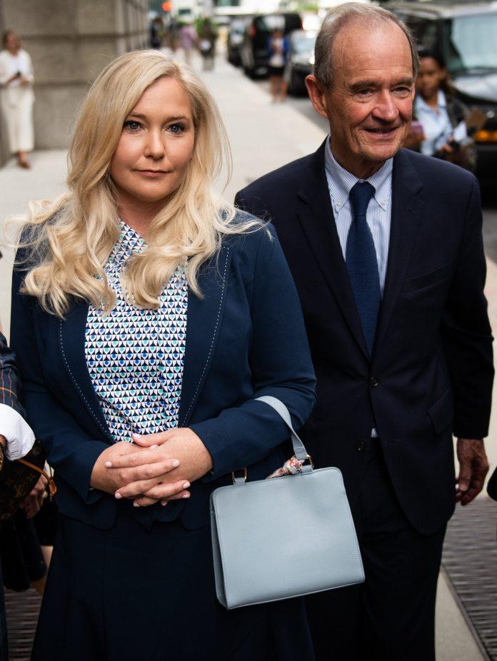 Virginia Roberts with her lawyer David Boies