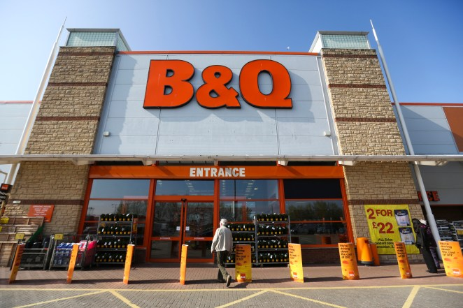 B&Q shops remain open at the moment but with restrictions on opening hours and customer numbers