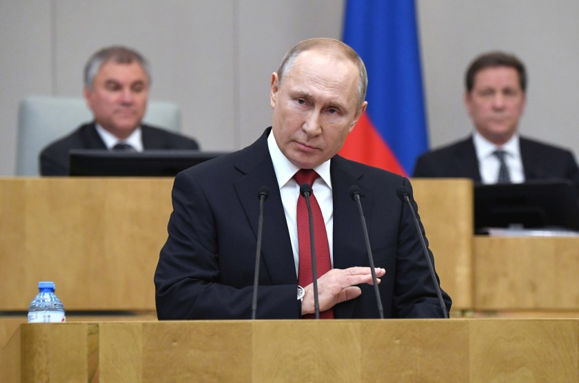 Vladimir Putin, 67, who was first elected in 2000, could run again after his current six-year term expires.