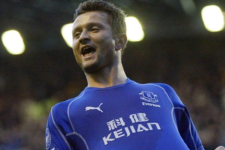 Radzinski scored a late equaliser for Everton on Roo's debut