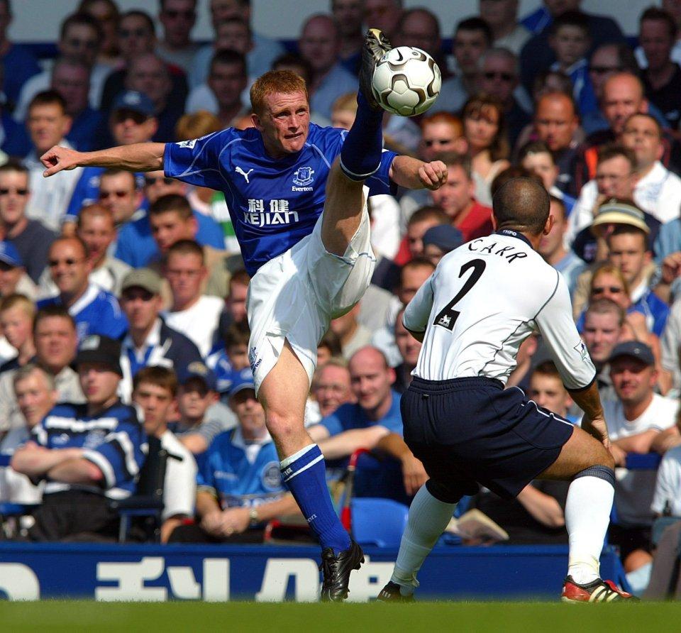 Veteran winger Mark Pembridge scored from a Rooney assist against Tottenham