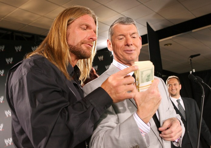 The icon, represented with his son-in-law Triple H, was not born with a silver spoon in his mouth as many believe