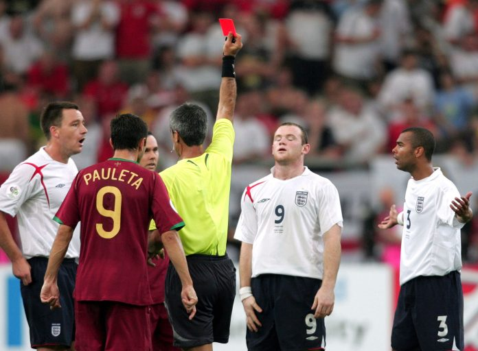 The red card seemed to sum up the golden generation of England and their difficulties in the last stages