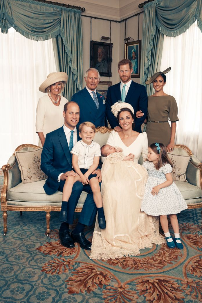 A photo taken during the baptism of Prince Louis is one of the few group photos