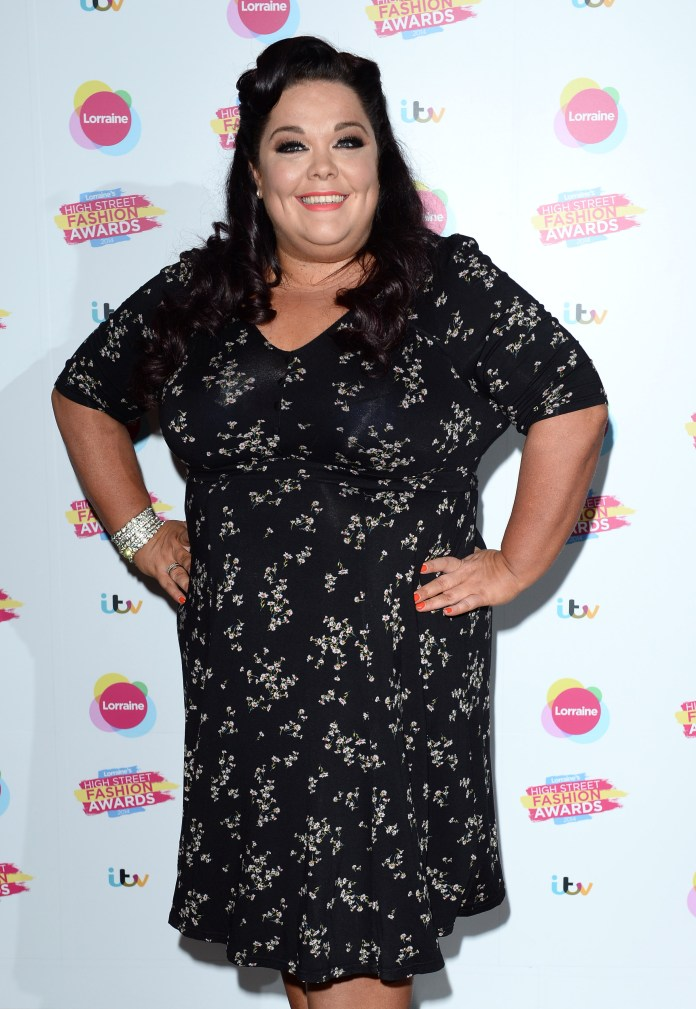 Lisa Riley, photographed in 2014, revealed that a surgeon cut almost a stone and a half of excess skin as part of her incredible weight loss journey