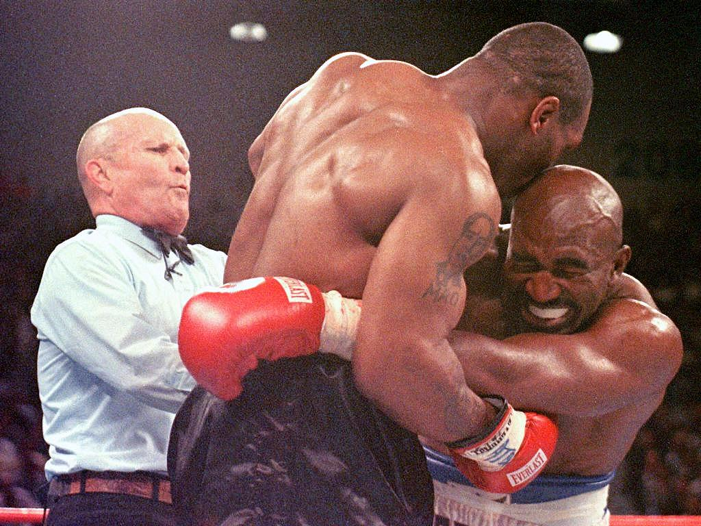 Mike Tyson biting Evander Holyfield remains one of the most shocking moments in boxing history