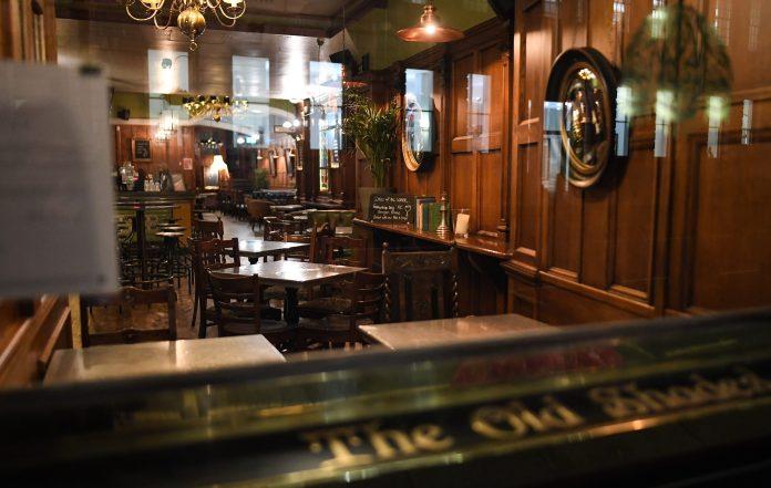 Empty London pub amidst coronavirus lockout