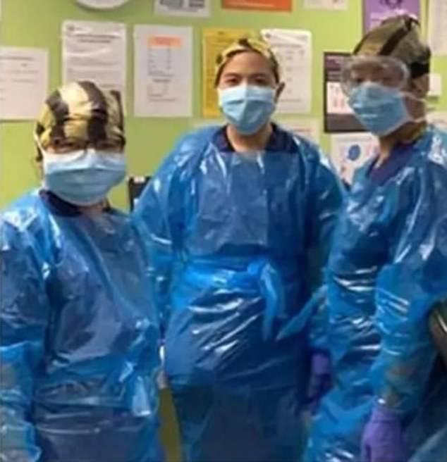 Last month, nurses were caught with makeshift hazardous material combinations