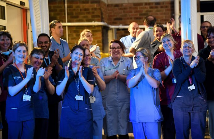 NHS staff across the country will be applauded across the country for their efforts during the coronavirus pandemic