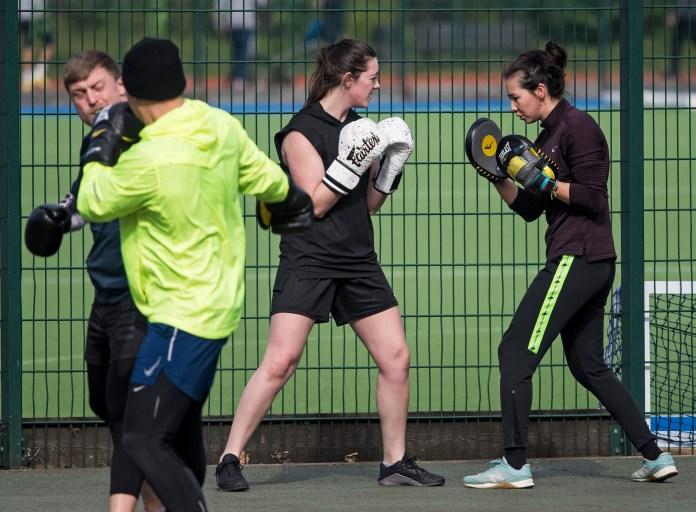 Two women compete today at Paddington Recreation Ground