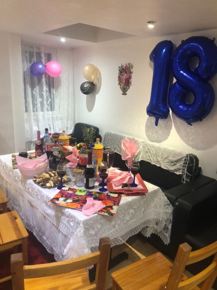 Police in Newham, east London, hosted an 18th birthday party yesterday, sending the 25 guests home.