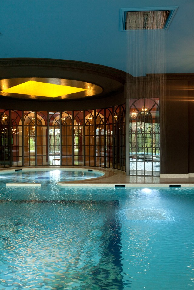 There are two swimming pools at the property, one indoors, one out