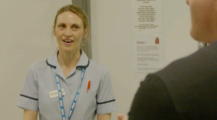 Nurse Searle talked about caring for patients with the virus