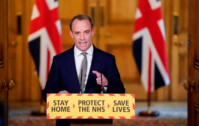 Dominic Raab has extended the lockout for three weeks
