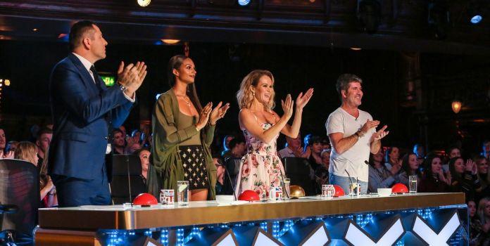 The song made judges Simon, David Walliams, Alesha Dixon and Amanda Holden happy