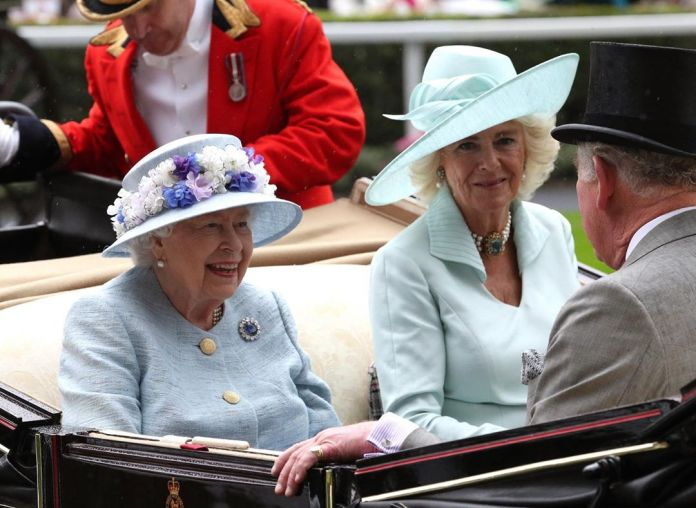 The Prince of Wales shared his Majesty's happy return with the Duchess of Cornwall at Ascot