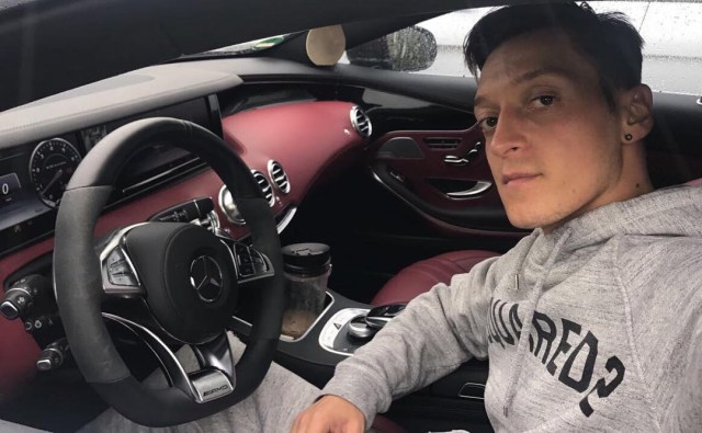 Ozil has a car collection worth around £800k