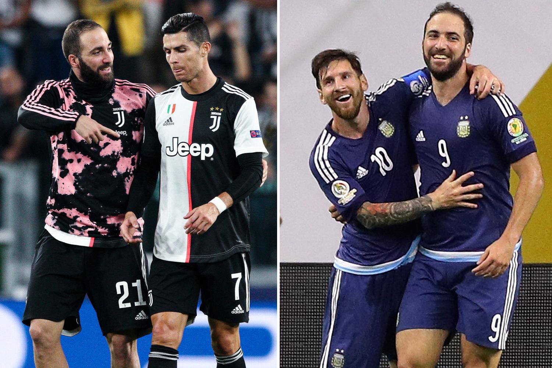 Higuain currently plays alongside both Messi and Ronaldo