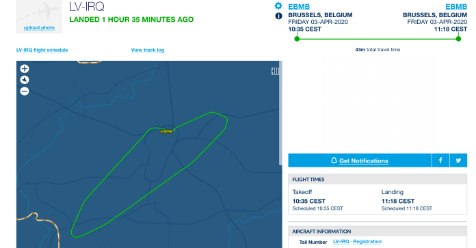 After less than 90 minutes in Brussels, he took off one more but was only in the air for 43 minutes