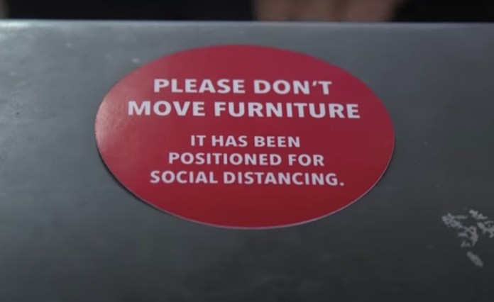 Stickers will be placed on the furniture so that they do not move
