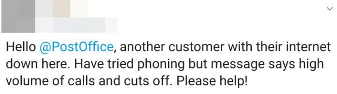 TalkTalk, BT and Post Office users complain on Twitter