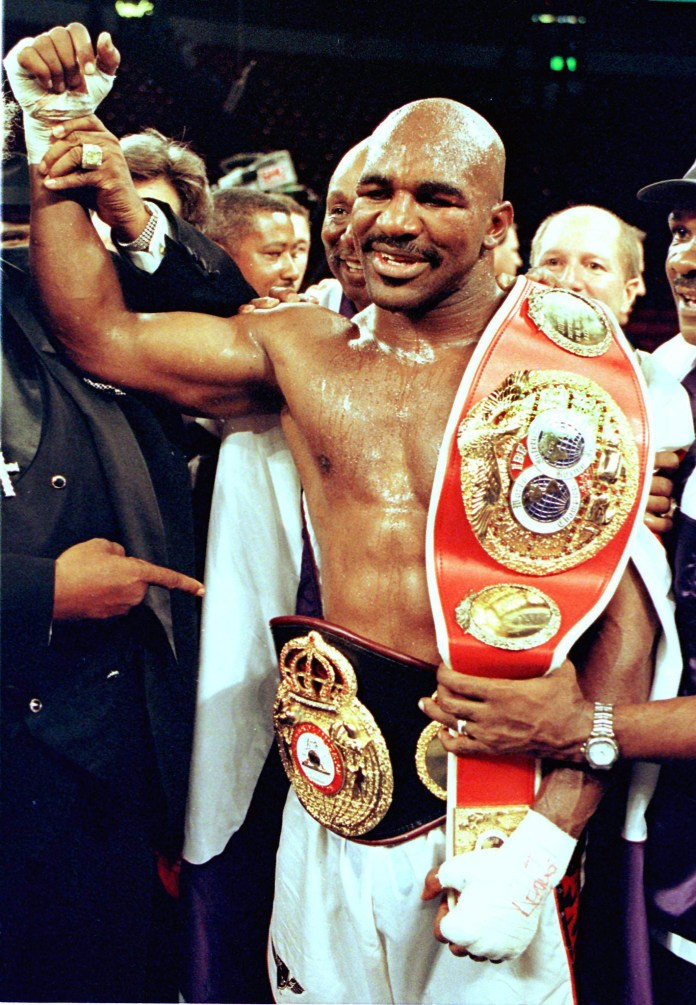 Holyfield last fought in 2011 and officially retired in 2014