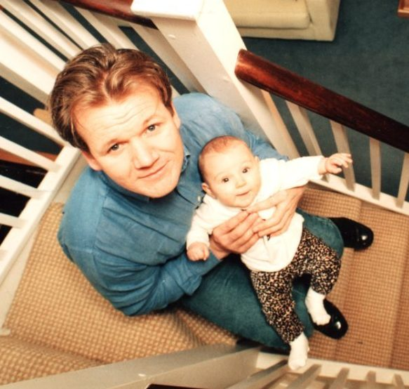 Gordon and Megan when she was only six months old