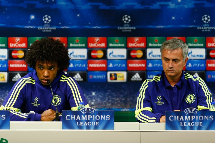 Willian previously worked under Mourinho at Stamford Bridge