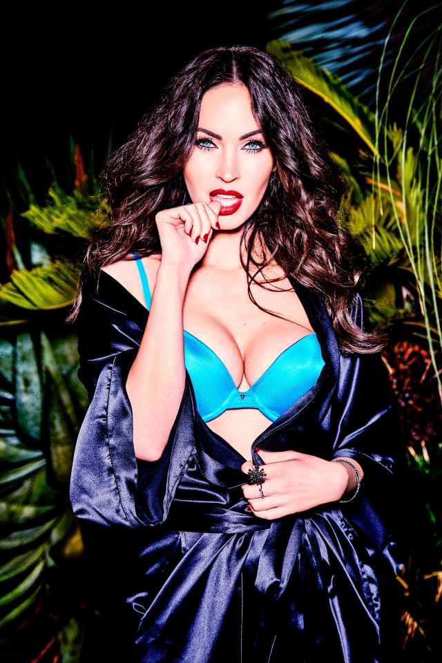Megan Fox sizzles in blue underwear and a silky robe for a sexy photoshoot