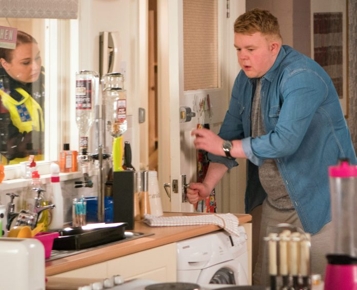 On Coronation Street as Craig Tinker in 2018