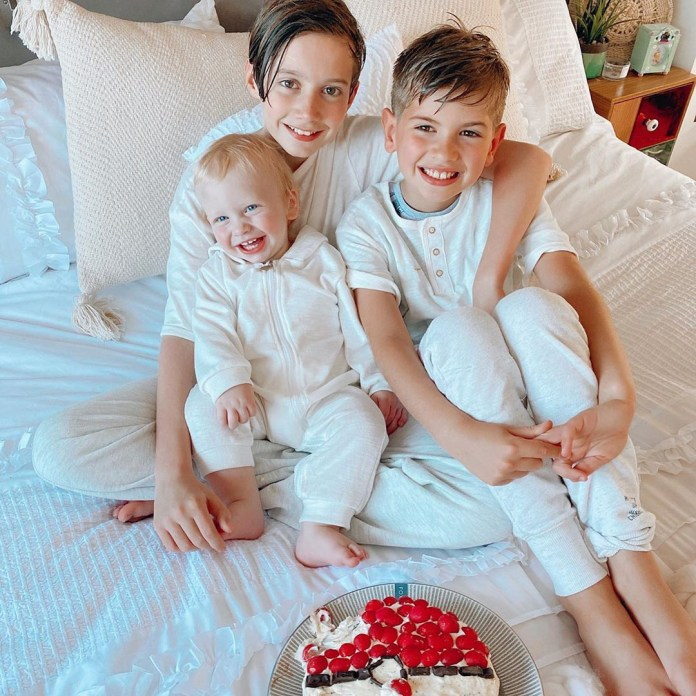 Stacey celebrated her middle son Leighton's eighth birthday yesterday