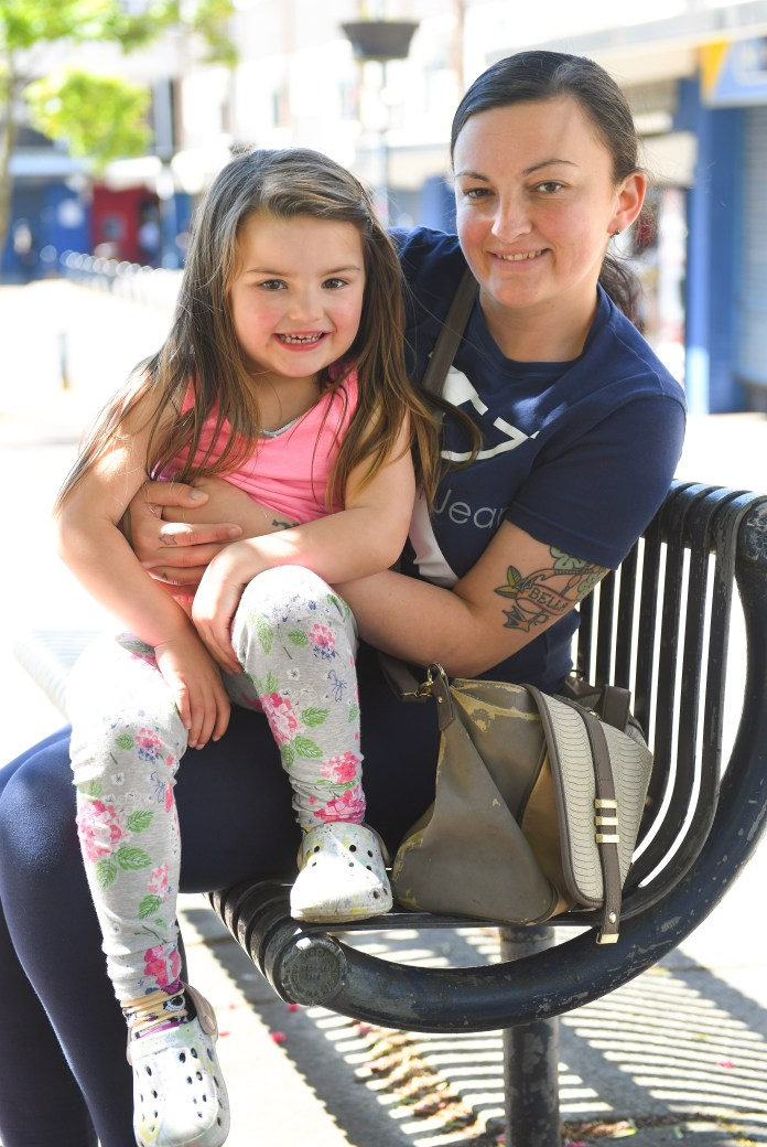 Ferne Cunningham and her 4-year-old daughter Bella live in the Little Hulton area of Salford