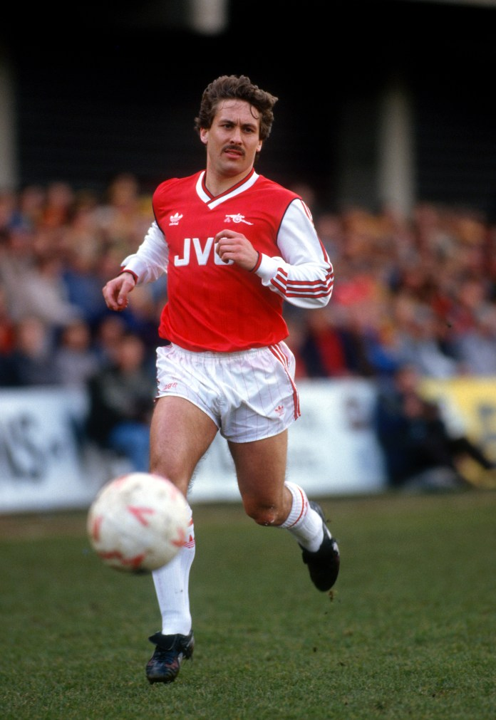 Kenny made 394 appearances for Arsenal