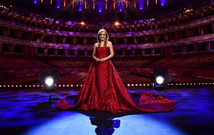 The performance of the Welsh soprano was the first behind closed doors in the 150-year history of the Royal Albert Hall