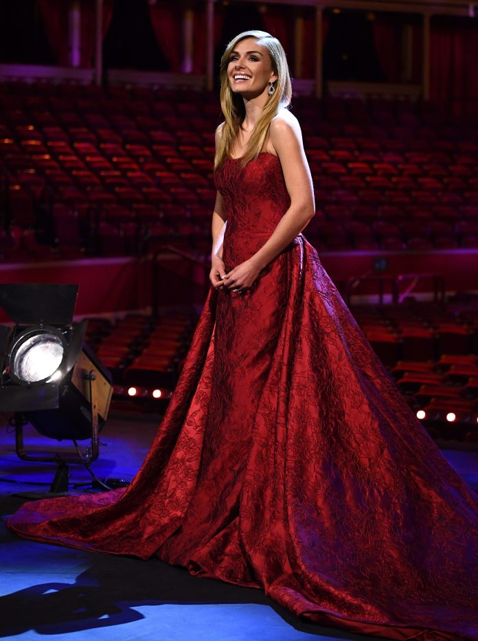 Katherine Jenkins sang the favorites of the 40s at the Royal Albert Hall, joined for a virtual duet by Dame Vera Lynn and screened on YouTube