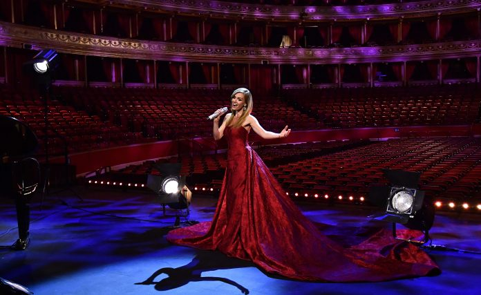 Katherine Jenkins sang a series of classic war songs from Dame Very Lynn at the Royal Albert Hall