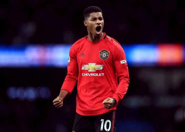 Marcus Rashford has scored 19 goals and made five assists this season