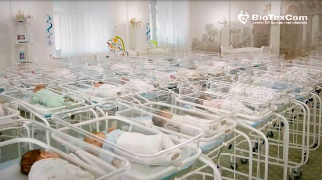 The hotel in Ukraine is currently home for 46 newborns