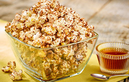 Mrs Crunchs chocolate and maple popcorn is the perfect movie accompaniment