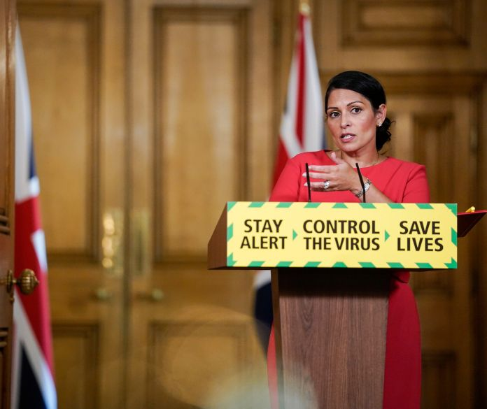 The new measures were announced yesterday by the Minister of the Interior Priti Patel