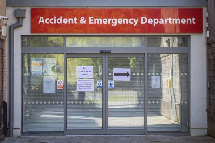 Hospital closed accident and emergency department to new admissions yesterday